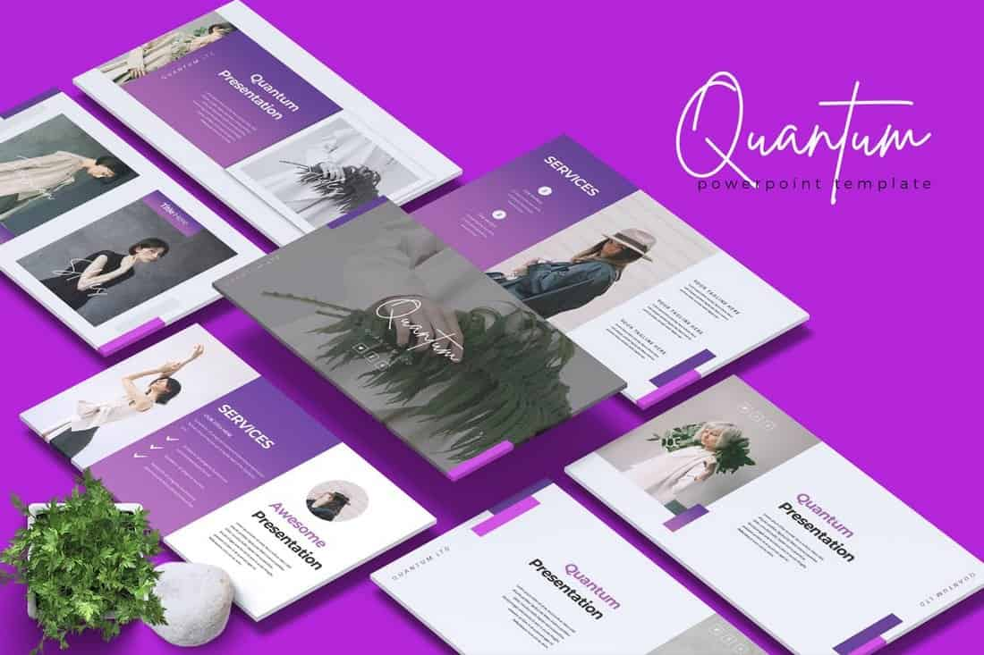 QUANTUM - Company Profile Powerpoint Template
