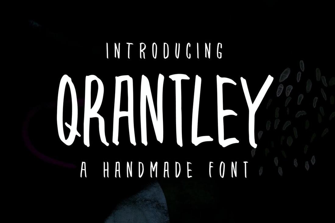 Qrantley - Hand-Drawn Narrow Font