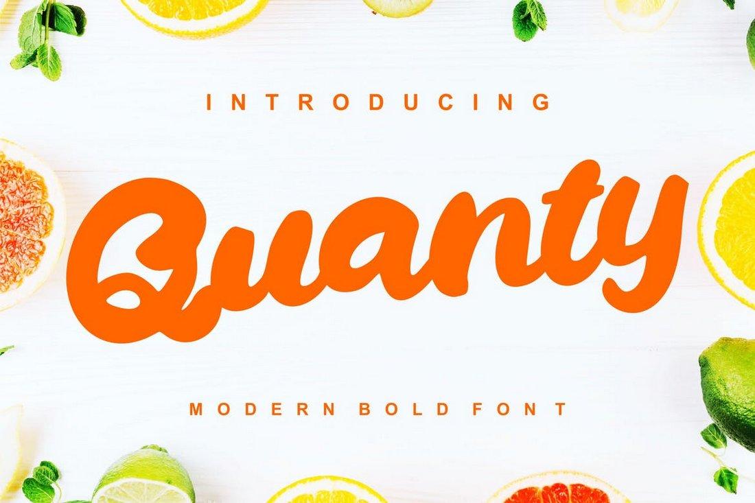Quanty - Modern Script Bold Font