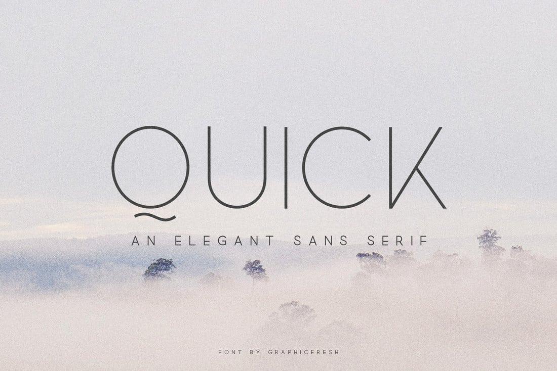 Quick – Elegant Sans Serif