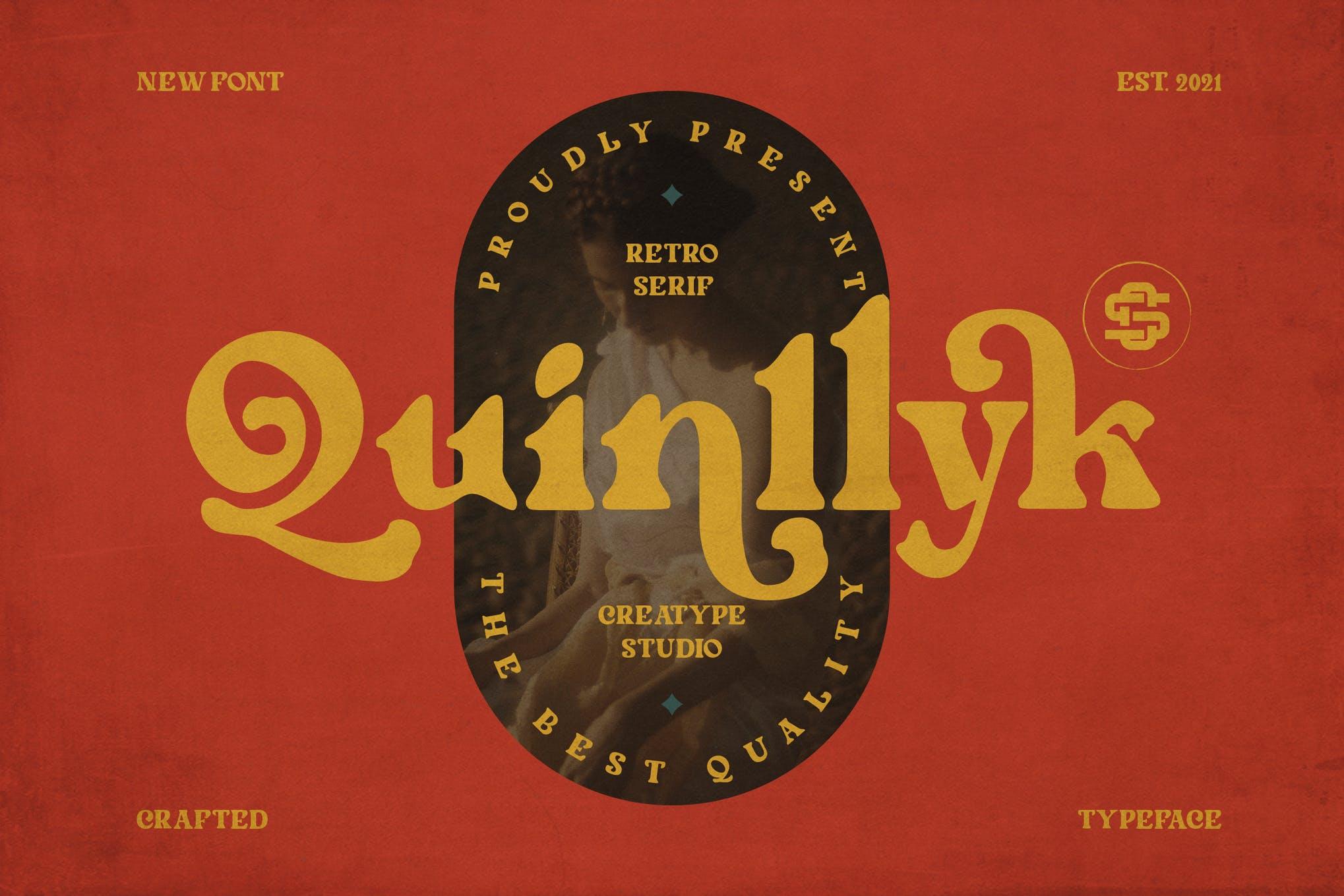 Quinlliyk Retro Serif Font