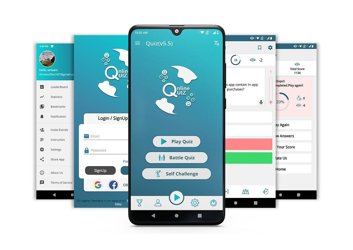 Quiz-Online-template 20+ Best Android App Templates (For Mobile Apps) 2021 design tips
