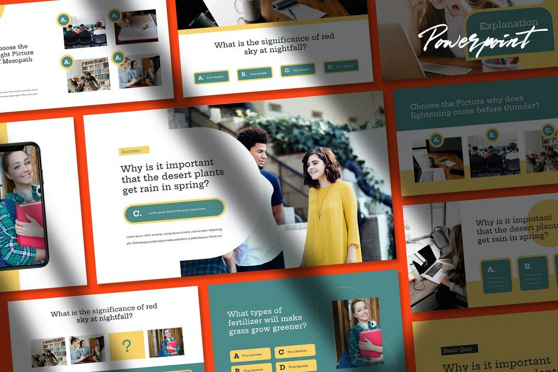 Quizy - Quiz Themed Powerpoint Template