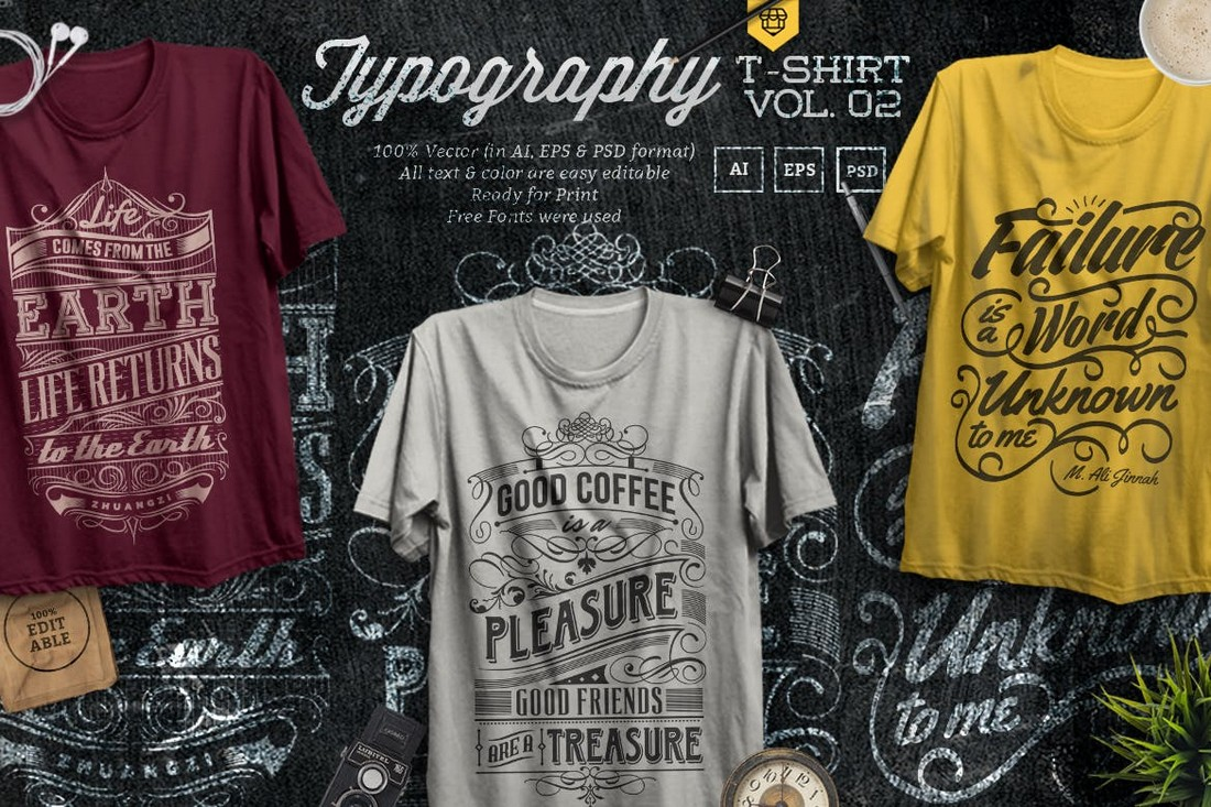 Quote Typography T-Shirt Designs