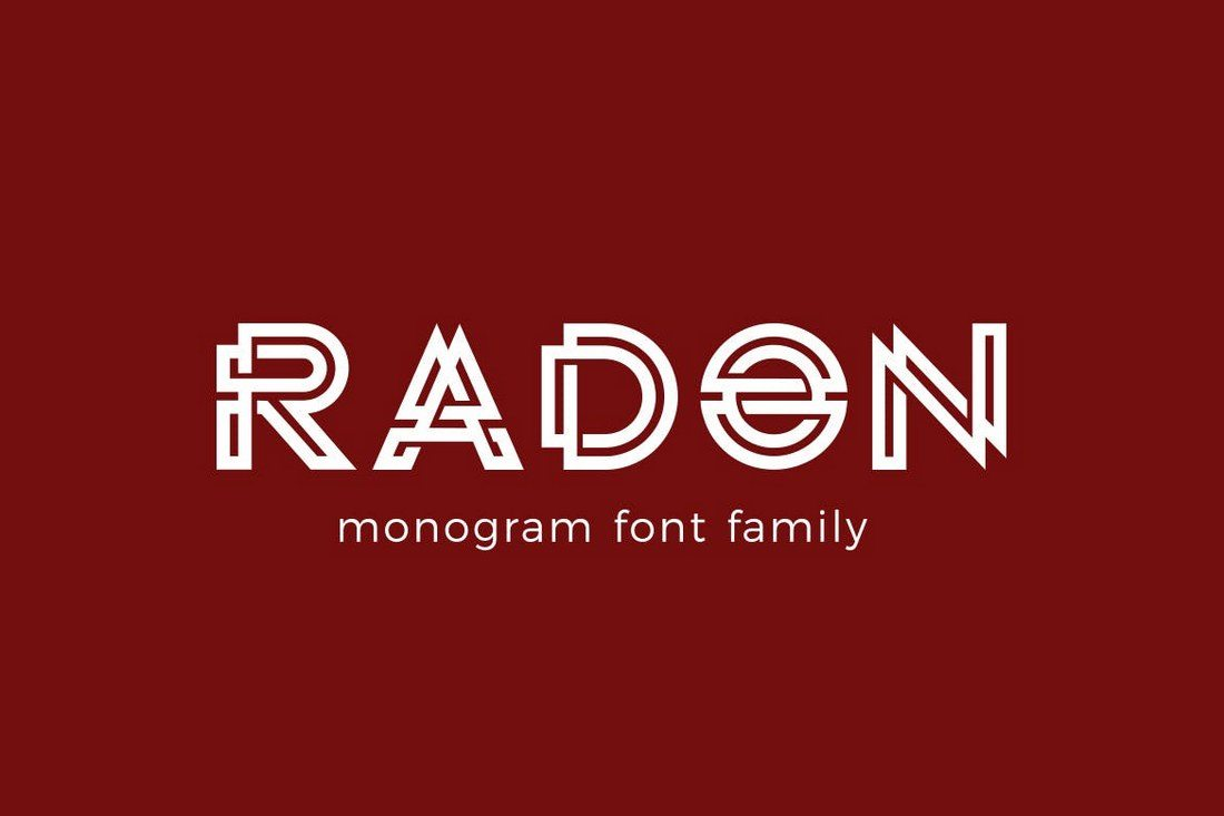 RADON-Monogram-Logo-Font 30+ Best Fonts for Logo Design design tips
