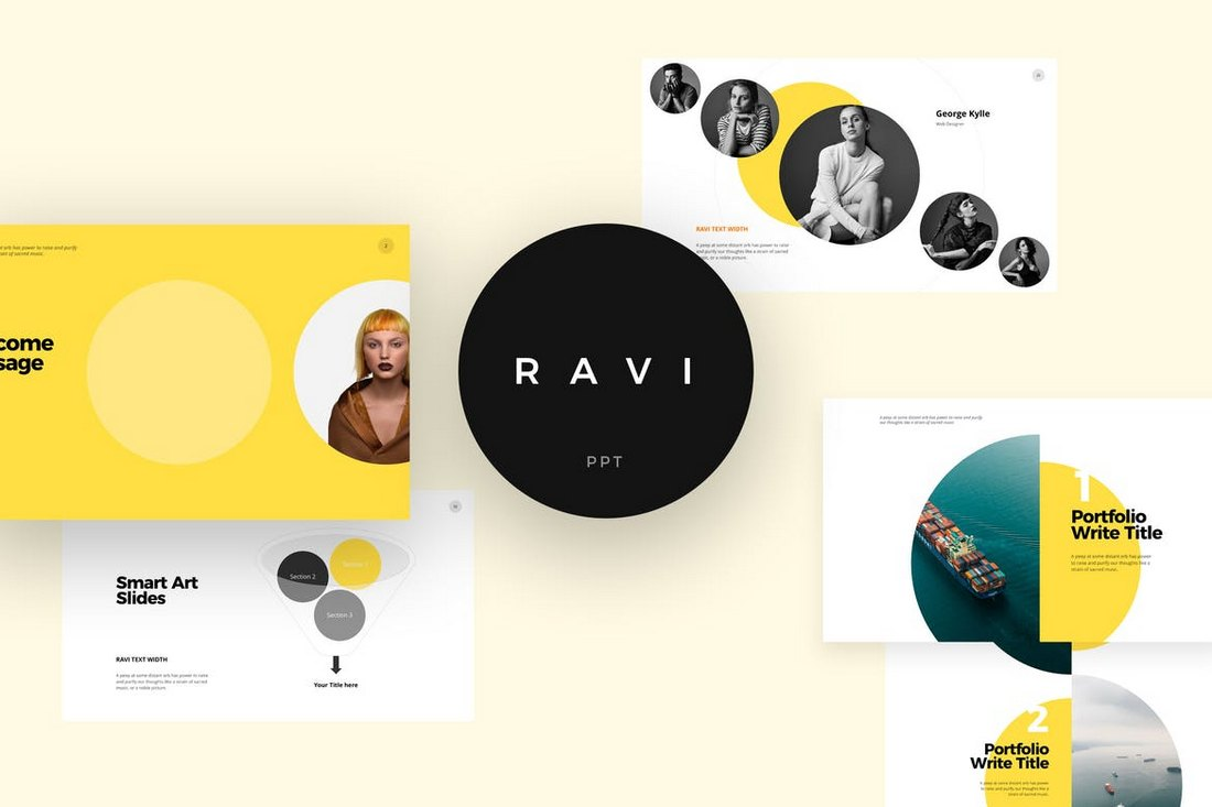 RAVI-Creative-PowerPoint-Template 20+ Simple PowerPoint Templates (With Clutter-Free Design) design tips  Inspiration|powerpoint