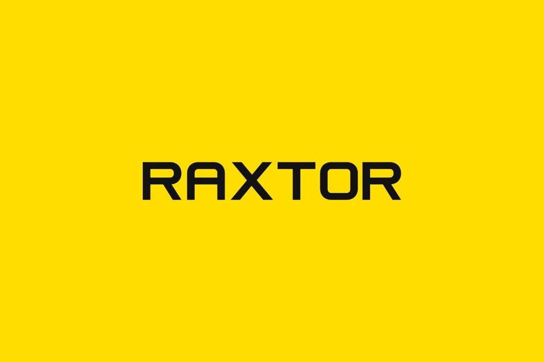 RAXTOR - Modern Corporate Font
