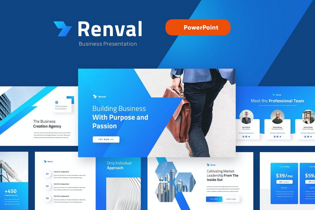 RENVAL - Marketing Strategy PowerPoint Template