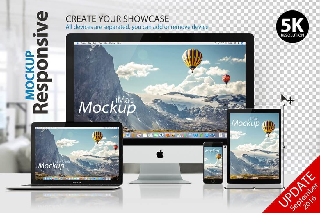 RESPONSIVE-MOCKUP2 100+ MacBook Mockup Templates (PSD & Vector) design tips