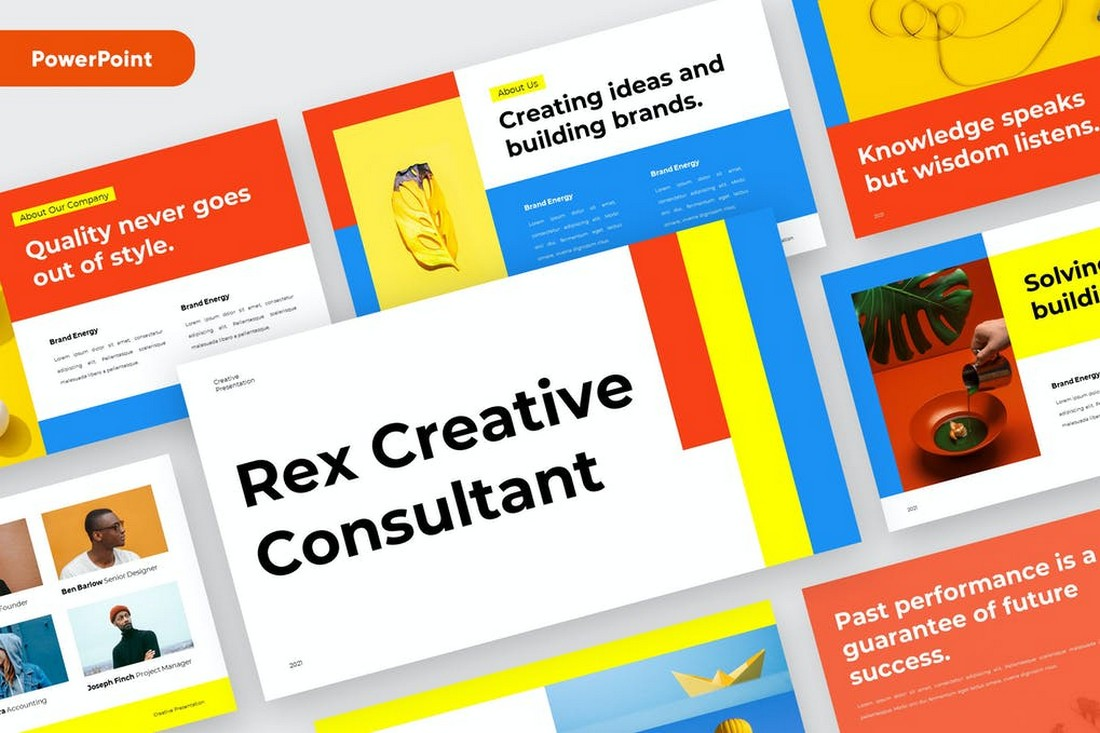 REX - Colorful Startup Powerpoint Template