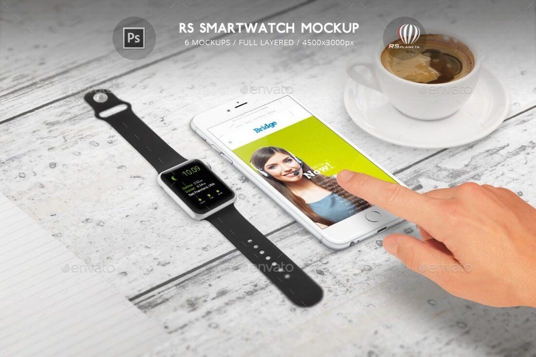 RS-Smartwatch-Mockup 50+ Apple Watch Mockups & Graphics design tips