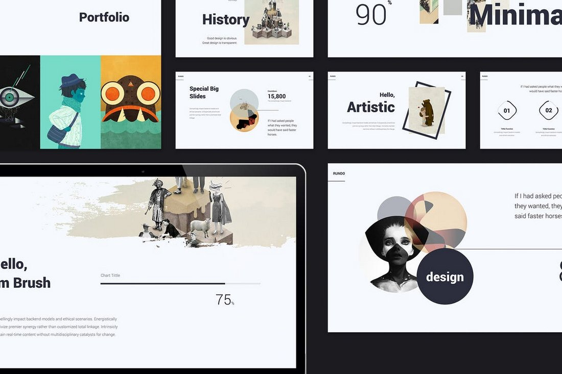 RUNDO-MInimal-Creative-Template 20+ Simple PowerPoint Templates (With Clutter-Free Design) design tips  Inspiration|powerpoint