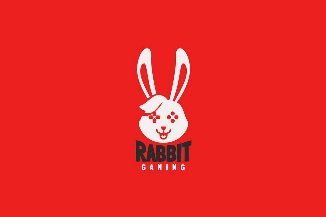 Rabbit Gaming Logo Template