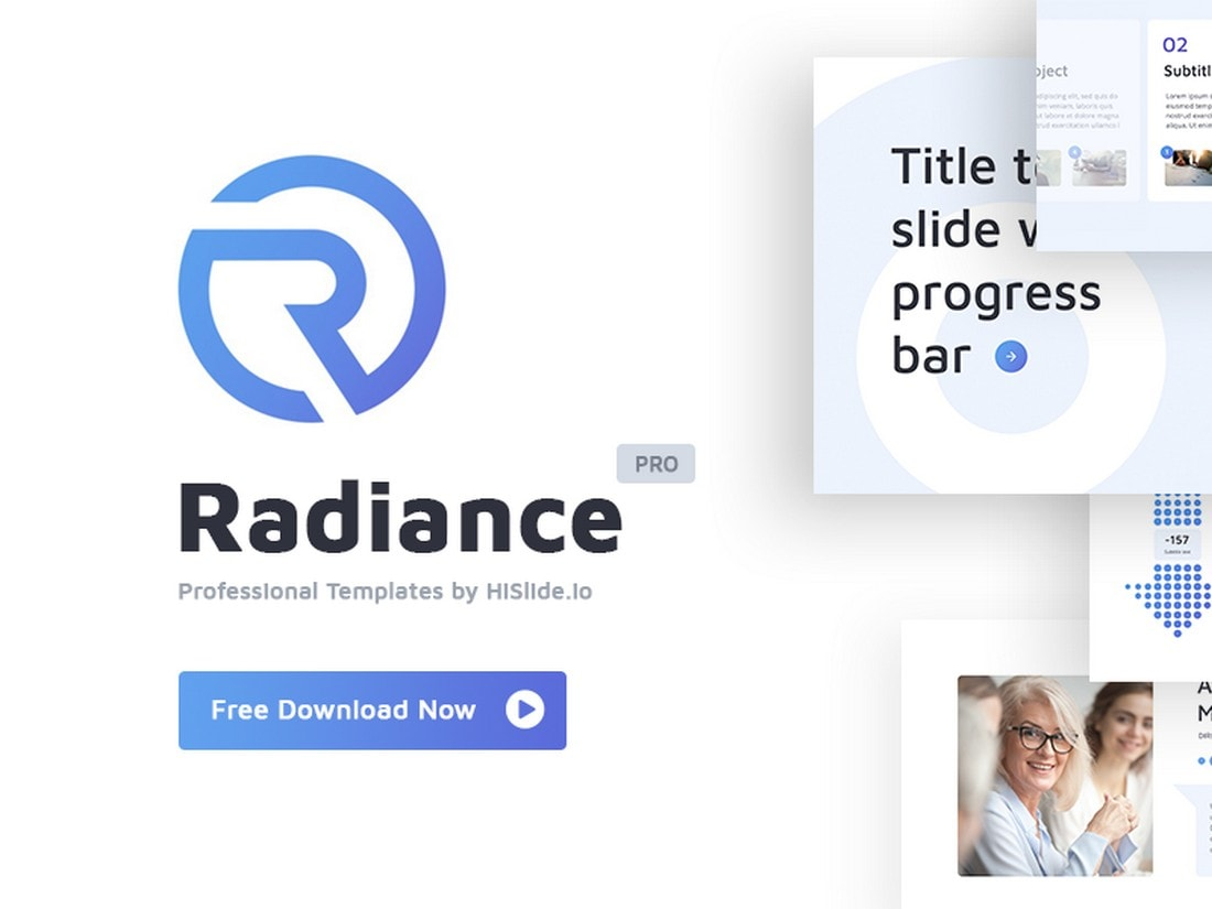 Radiance - Free Agency Keynote Template