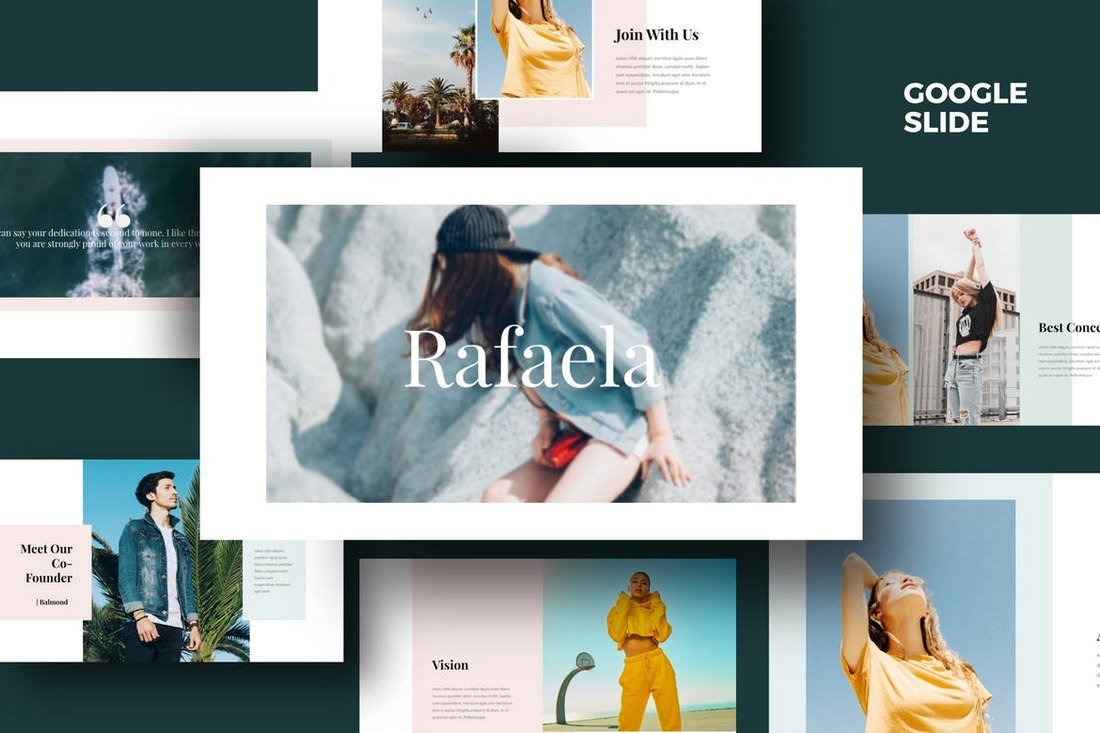 Rafaela-Google-Slides-Template 35+ Best Google Slides Themes & Templates 2019 design tips