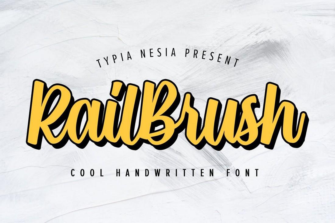 RailBrush - Trendy T-Shirt Font