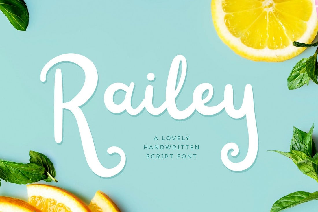 Railey - Free Handwritten Font