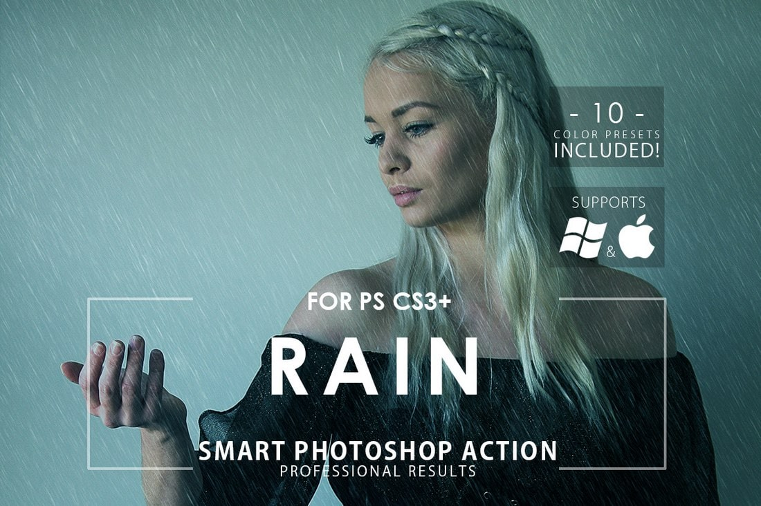 Rain-Free-Photoshop-Action 20+ Best Photoshop Filters + Plugins 2020 (+ How to Use Them) design tips