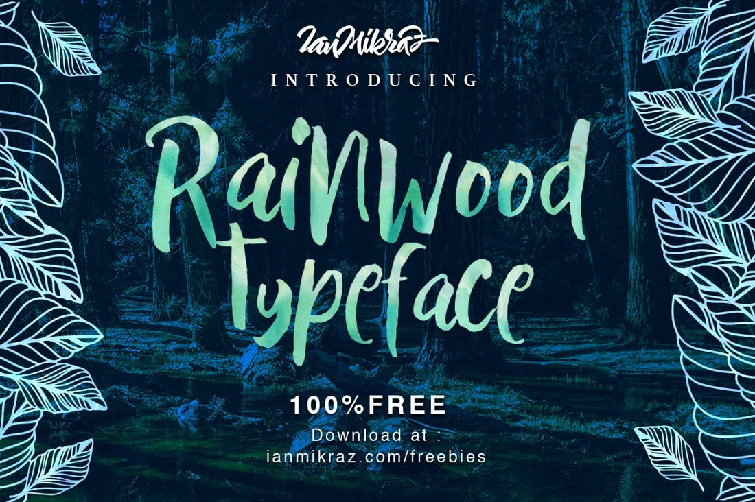 Rainwood - Free Hand Crafted Font