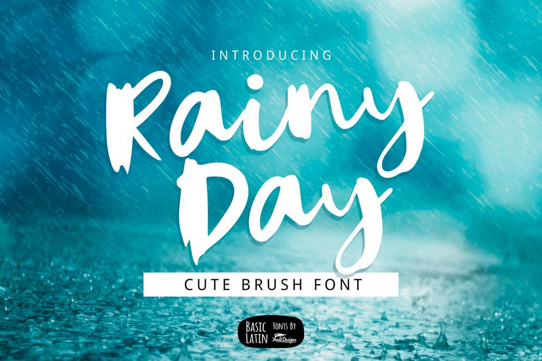 Rainy-Day-Unique-Brush-Font 100+ Beautiful Script, Brush & Calligraphy Fonts design tips