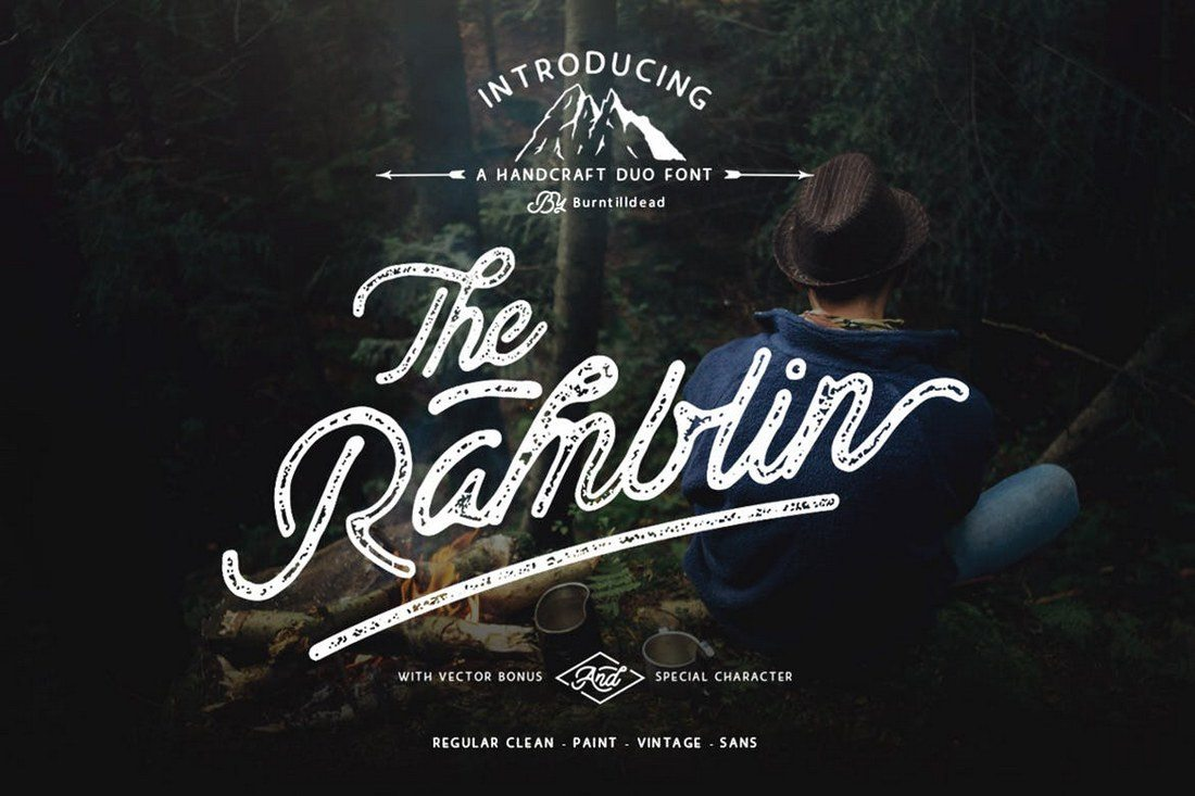 Ramblin-Font-Duo 50+ Best Hand Lettering & Handwriting Fonts 2021 design tips
