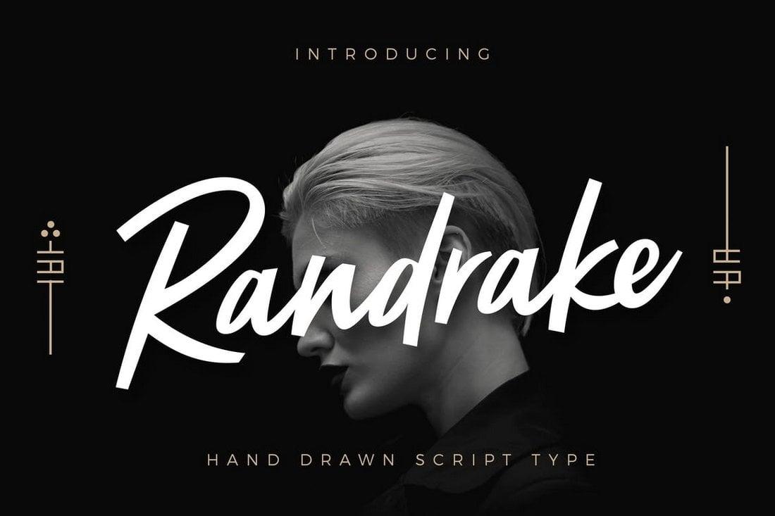 Randrake - Modern Script Logo Font