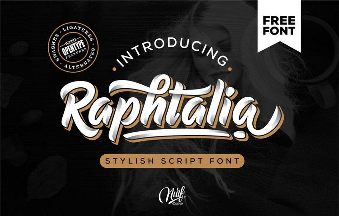 Raphtalia-Stylish-Free-Script-Font-1 30+ Bold & Free Script Fonts design tips  Typography|fonts|script