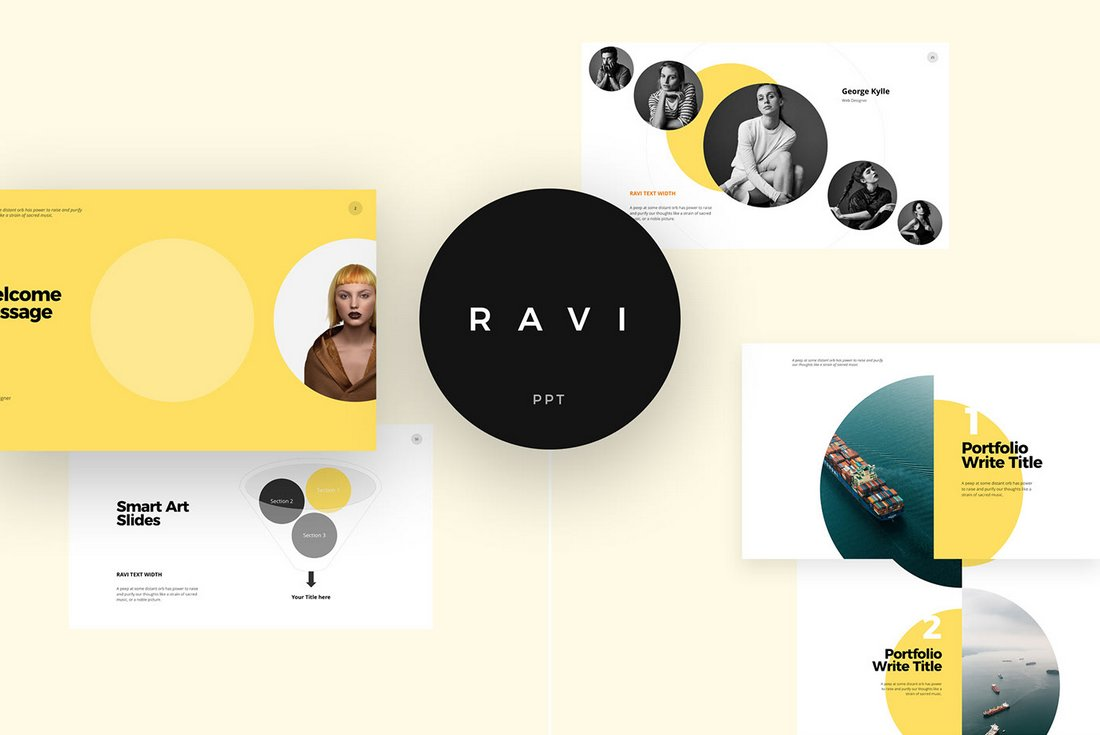 Ravi-Free-PowerPoint-Presentation-Template 50+ Best PowerPoint Templates of 2020 design tips