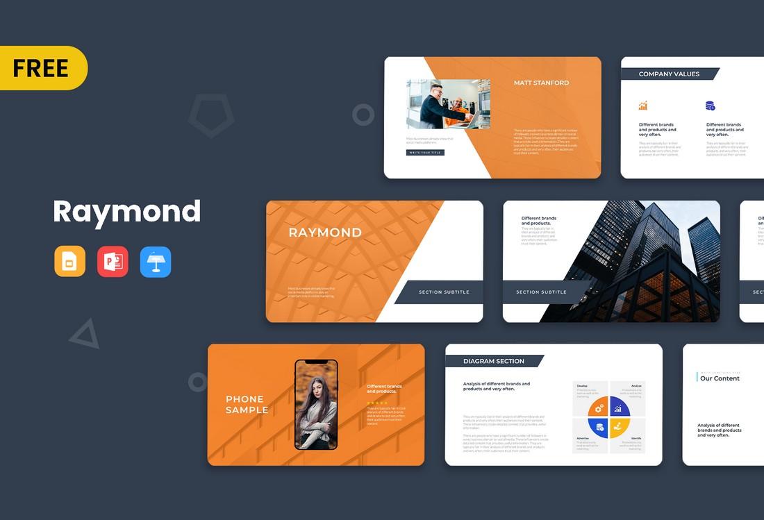 Raymond - Free Business Presentation Keynote Template