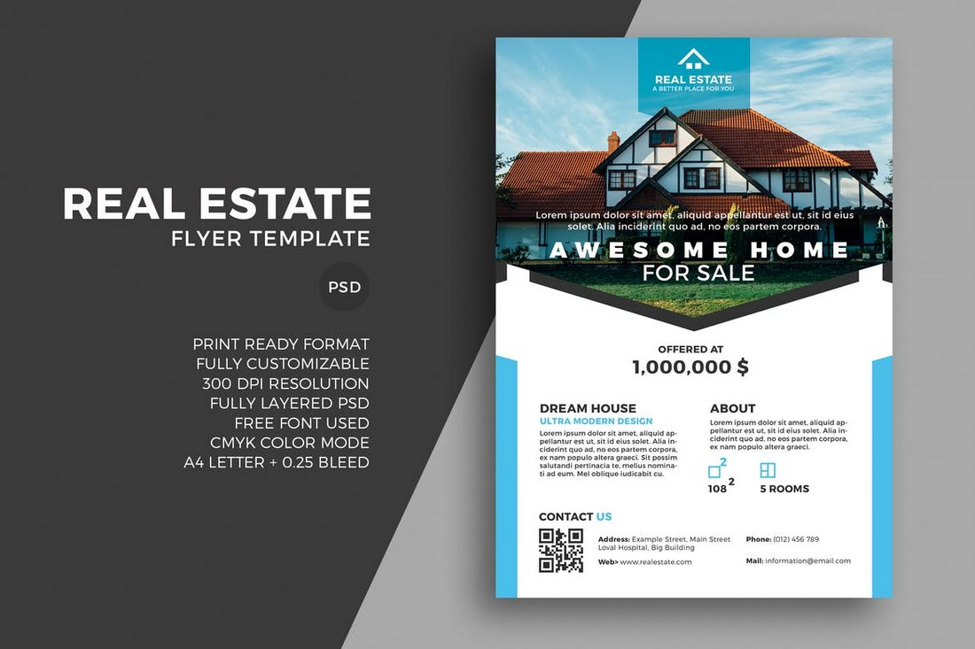 Real-Estate-Flyer-Template-1 30+ Best Real Estate Flyer Templates design tips  Inspiration|flyer|property|real estate