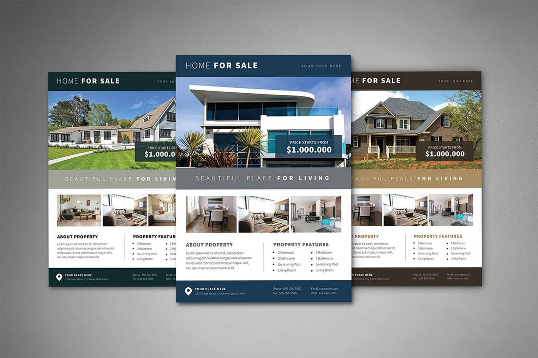 Real-Estate-Flyer-Template-PSD 30+ Best Real Estate Flyer Templates design tips  Inspiration|flyer|property|real estate