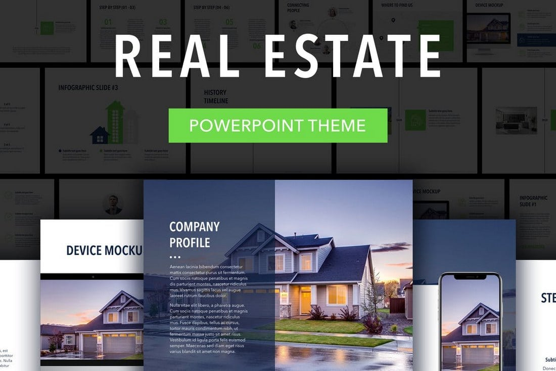 Real-Estate-PowerPoint-Template 20+ Modern Professional PowerPoint Templates design tips