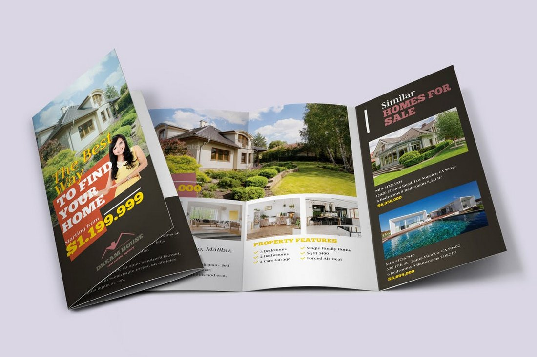 Real-Estate-Tri-fold-Brochure-Template 30+ Best Real Estate Flyer Templates design tips  Inspiration|flyer|property|real estate