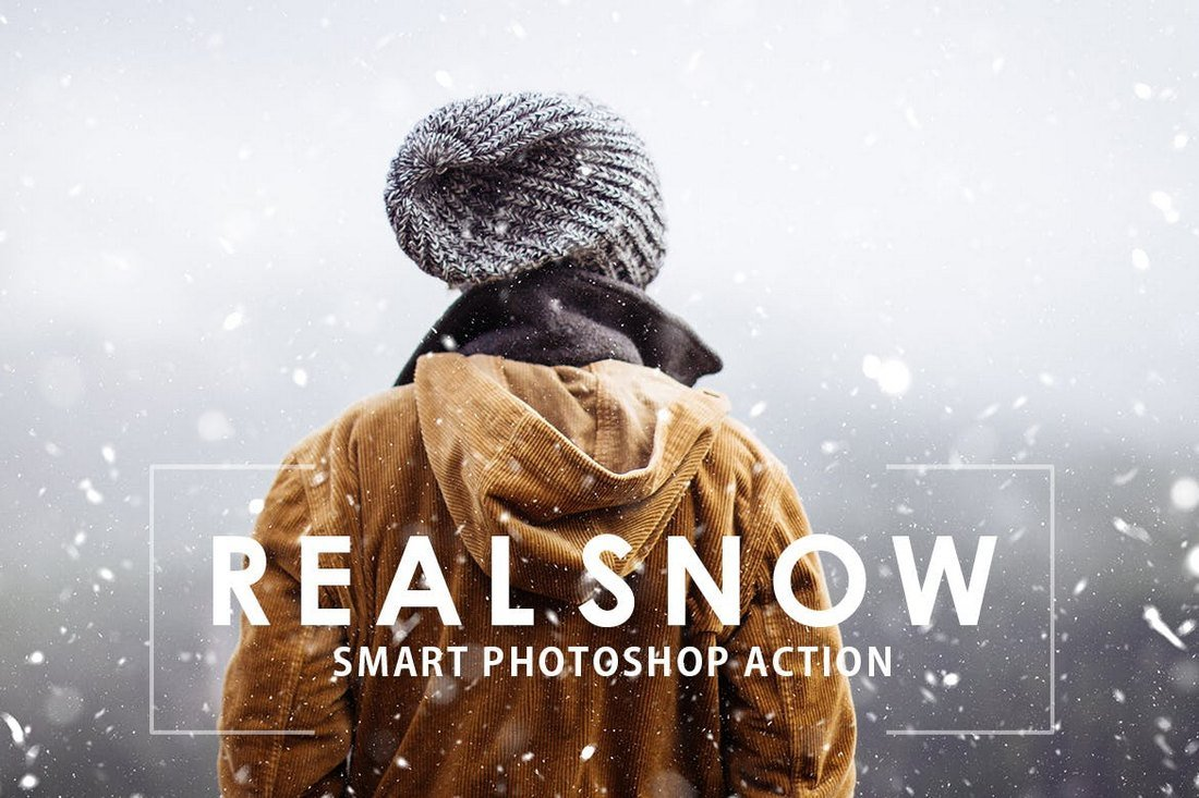 Real-Snow-Christmas-Photoshop-Action 15+ Christmas Photoshop Brushes, Actions & Text Effects design tips