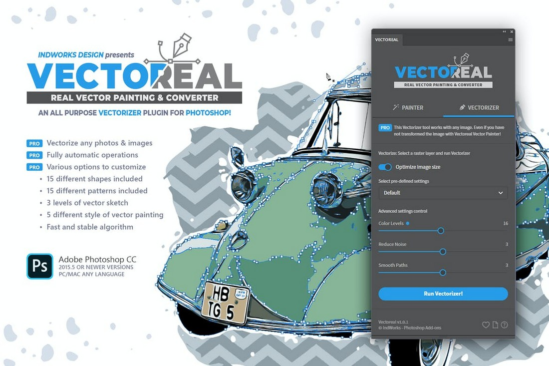 Real Vector Painting & Converter PS Plugin