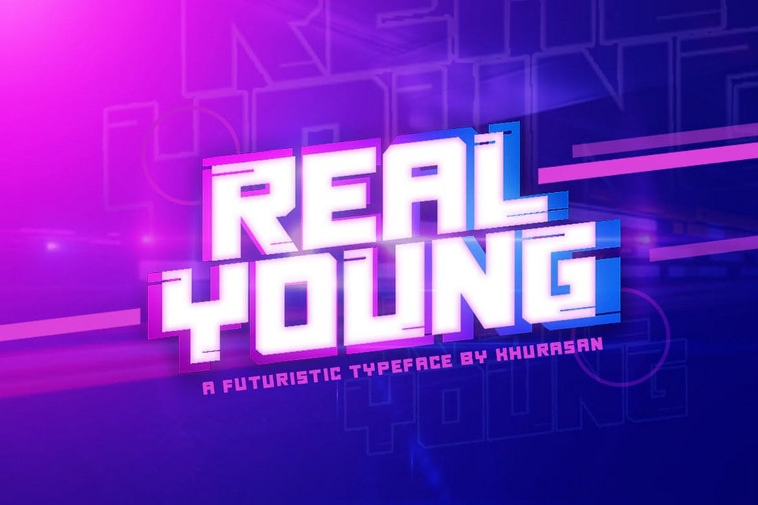 Real Young - Stylish Futuristic Font