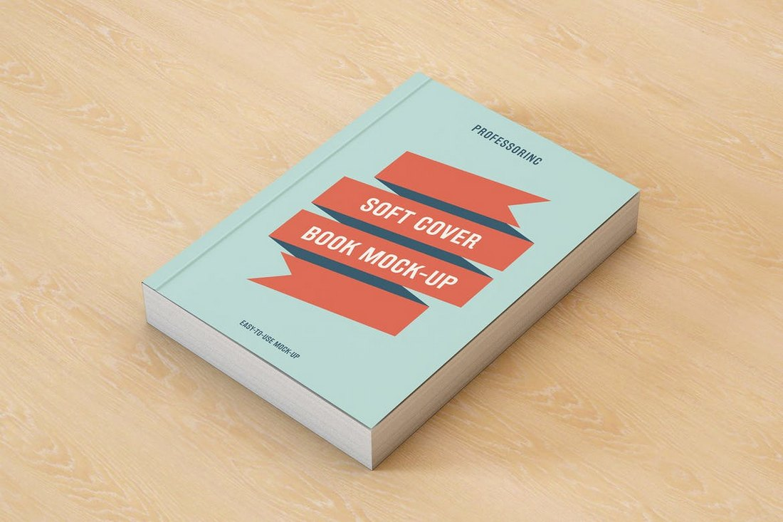 Realistic Soft Cover Book Mockup Template