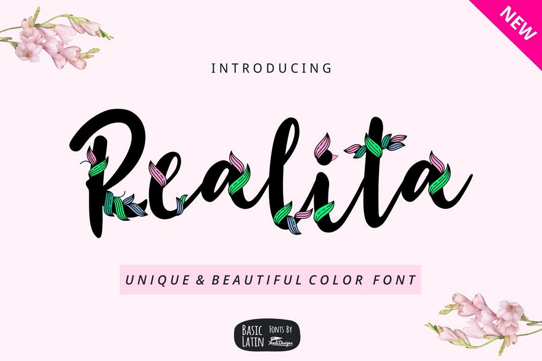 Realita-Creative-Color-Font 20+ Best Color Fonts of 2020 design tips
