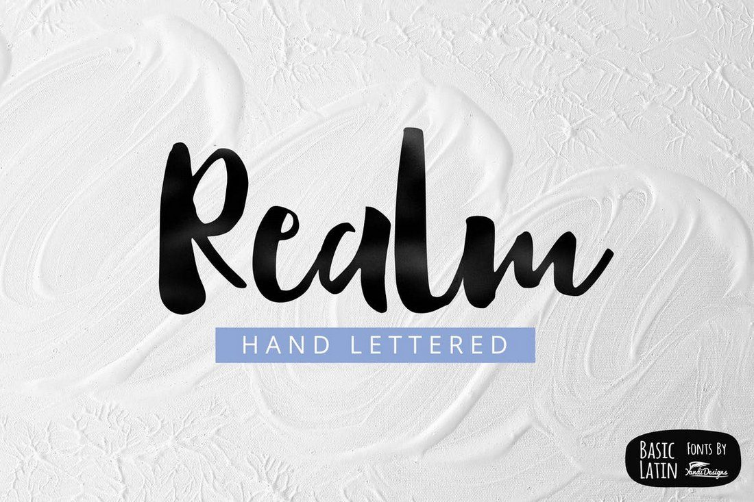 Realm-Font 50+ Best Hand Lettering & Handwriting Fonts 2021 design tips