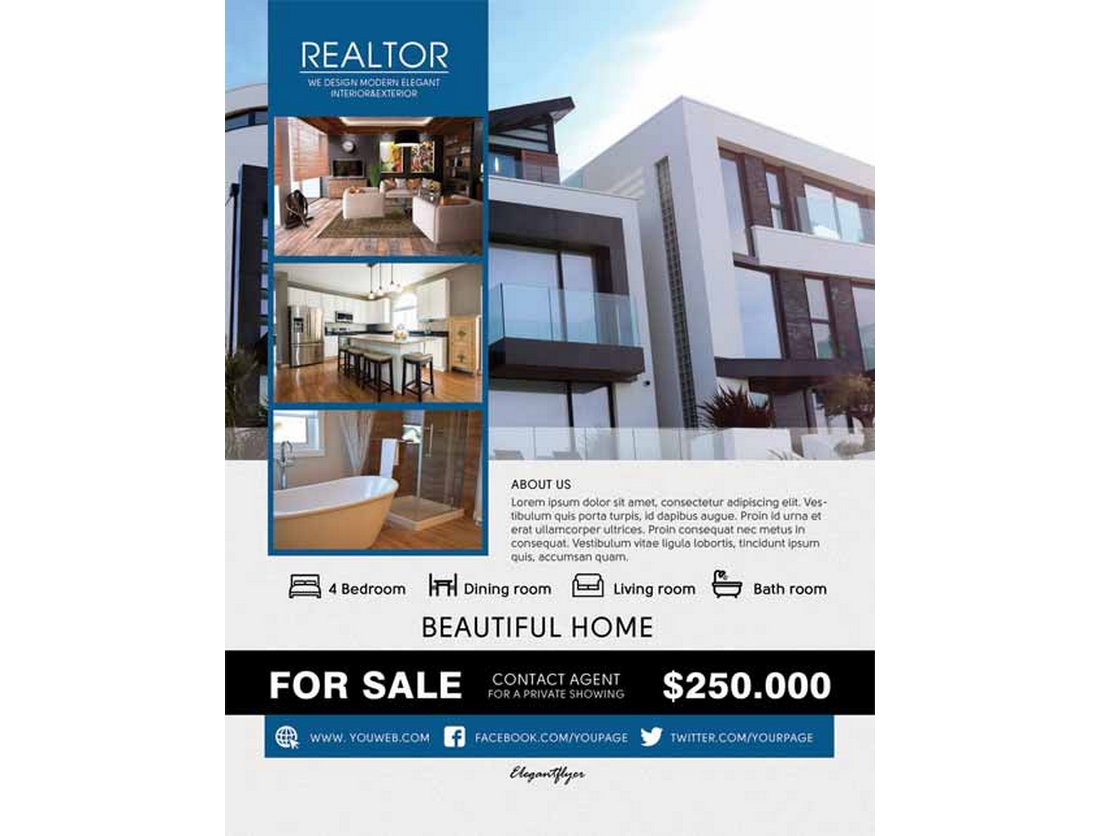 Realtor Real Estate Flyer Template