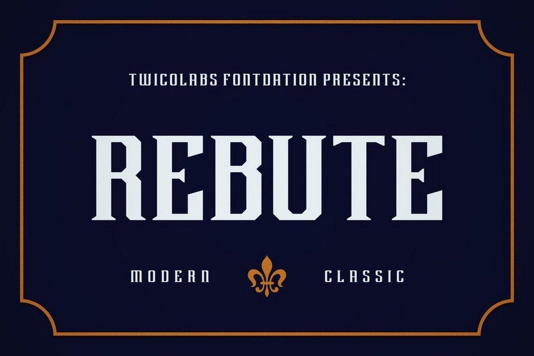 Rebute - Slab Serif Font