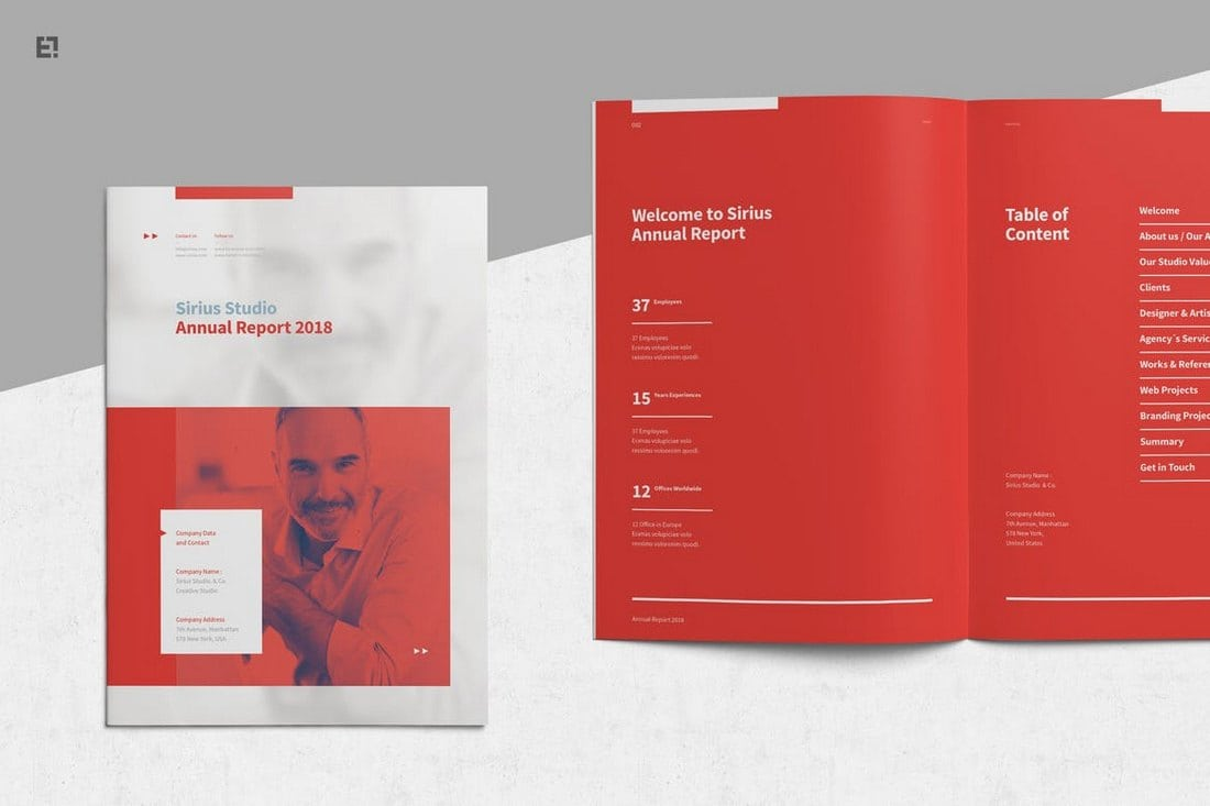 Red-Annual-Report-Template 20+ Annual Report Templates (Word & InDesign) 2018 design tips