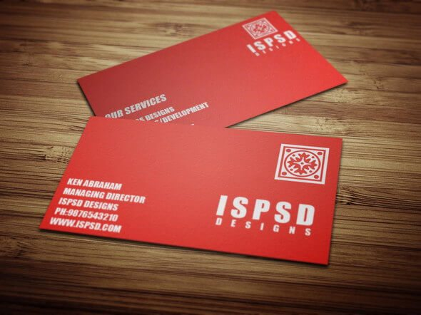 Red-Business-Card