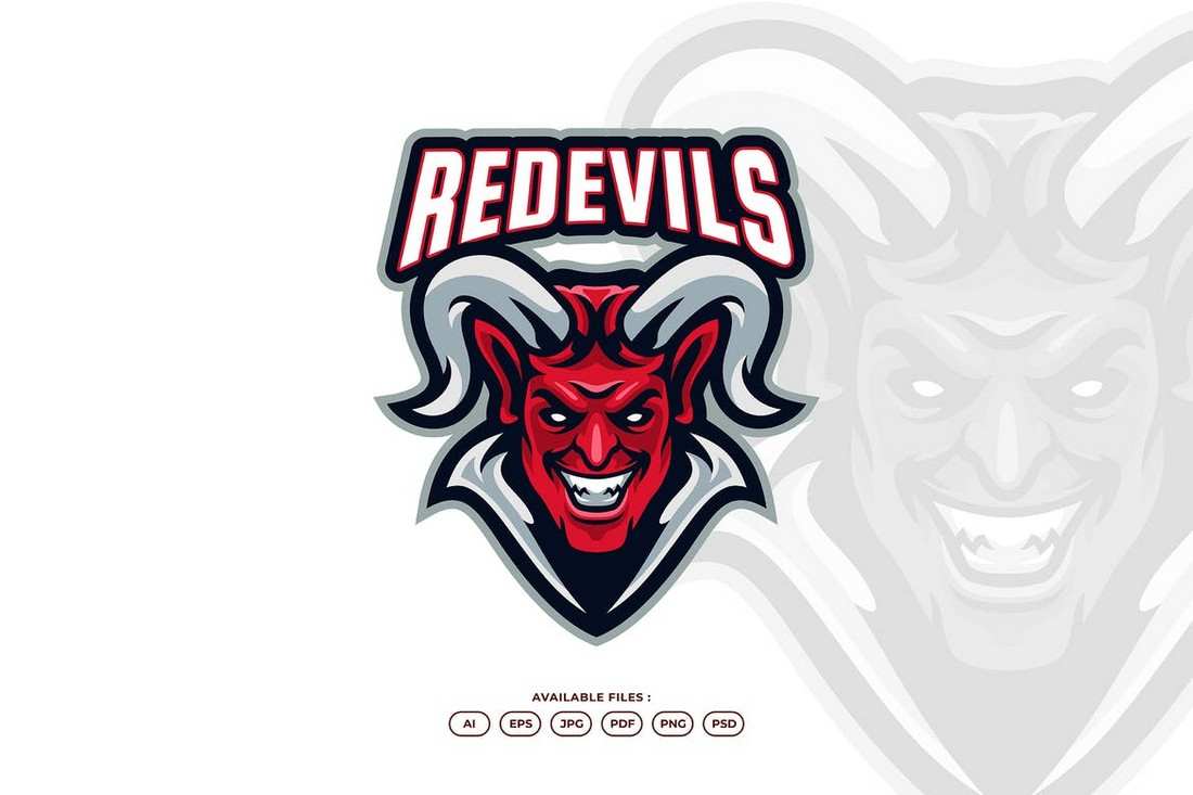 Red Evil - Esport & Gaming Logo Template