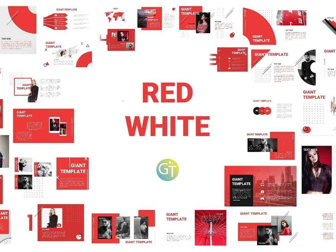 Red White - Free Powerpoint Template