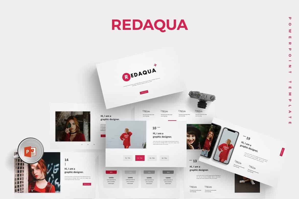 Redaqua-Minimal-Powerpoint-Template 30+ Animated PowerPoint Templates (Free + Premium) design tips