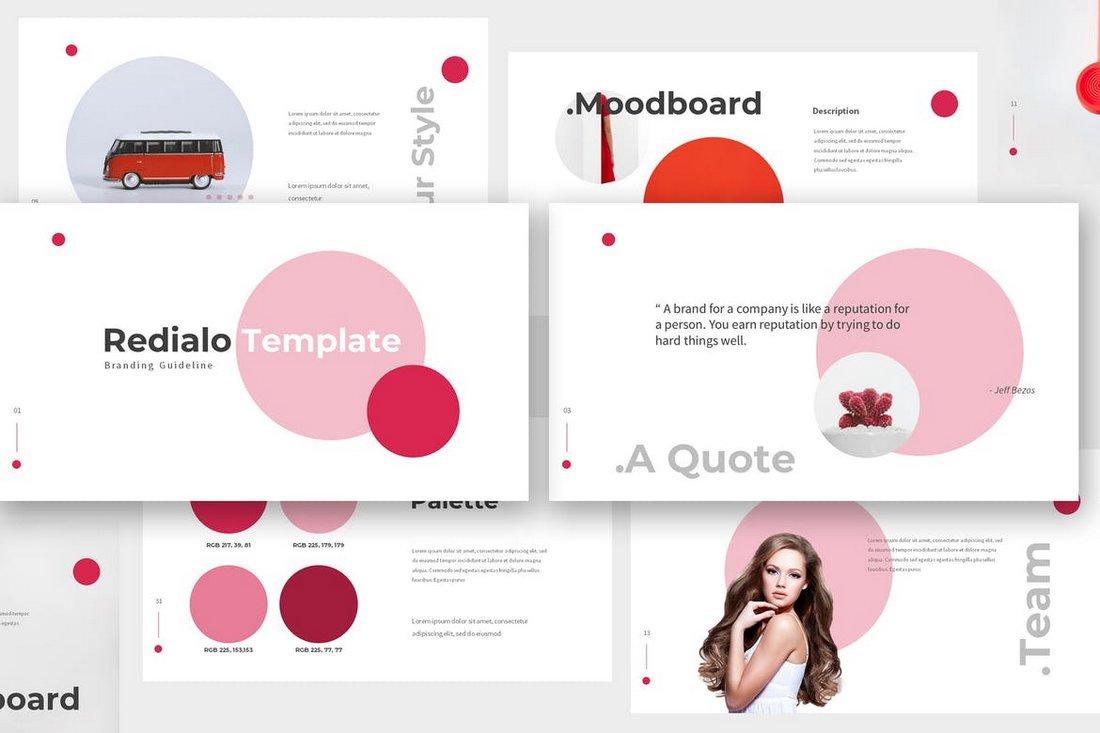 Redialo - Branding Guideline Keynote Template