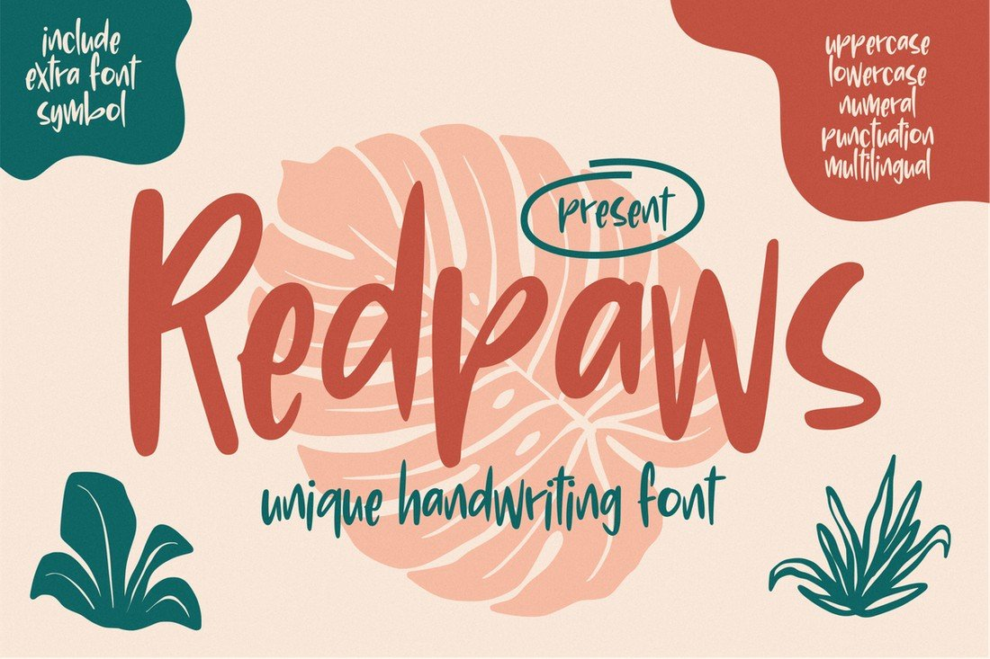 Redpaws-Unique-Handwriting-Font 50+ Best Hand Lettering & Handwriting Fonts 2021 design tips