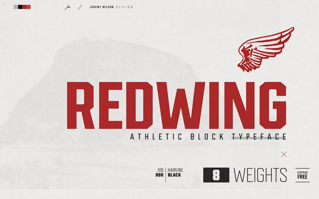 Redwing - Free Block Display Font