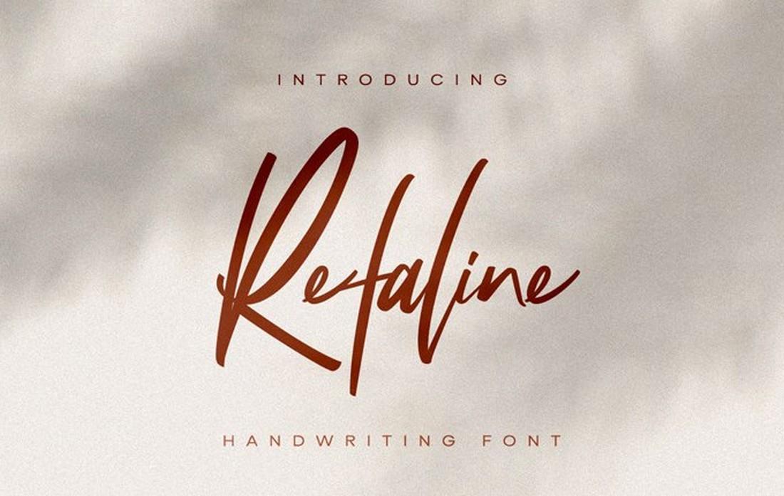 Refaline-Free-Elegant-Script-Font 25+ Free Brush, Script & Hand Lettering Fonts design tips